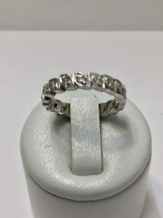 American Alliance Ring in White Gold with Diamonds of .55 ct.