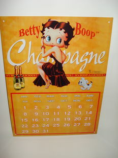 Betty Boop Champagne Advertising Sign - Year Calendar