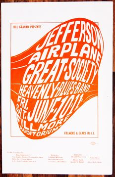 Dance Concert 1966 Jefferson Airplane 1966 BG 010 Fillmore Handbill San Francisco USA