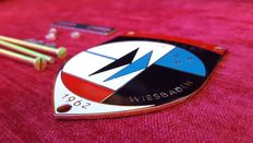 1962 10 Jahre Porsche club Wiesbaden - Grill Badge Metal with enamel