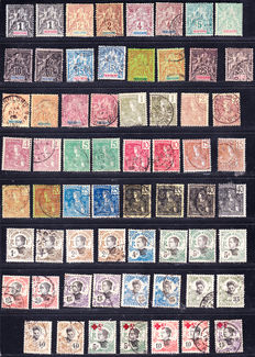 Asia - French Offices: China - Indochina 1894/1919 - large collection of 180 stamps