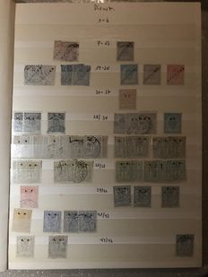 Luxembourg - Batch of service and postage stamps in stock book