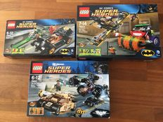 Super Heroes - 10 sets amongst others 76001 + 76013 - The Bat vs. Bane: Tumbler Chase + Batman: The Joker Steam Roller