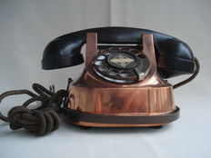 Solid red copper telephone
