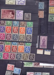 Belgium 1938/1955 – Collection of stamps and series
