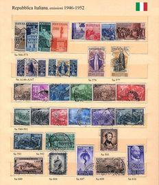 Italy, 1946-1952 - Selection of stamps from the Republic