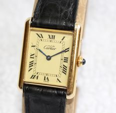 Cartier Tank Must de Cartier Vermeil - men's watch - 1980-1990's
