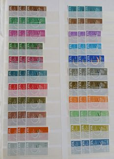 Europa Stamps - batch of stamps in stock book.
