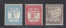 Monaco 1905 - Several sights - Yvert n° Taxe 4 and 27/28