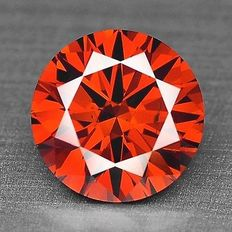 0.11 cts.  brilliant cut diamond Sparkling Red SI1
