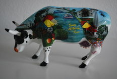 Jo Pollock for Cowparade - 'Alamoosey down the trail' type - Medium and Retired