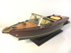 Scale model of a Riva Speedboat - Entirely of wood