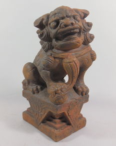 Cast temple lion, foo dog - China - 2nd half of century