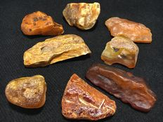 Baltic Amber with butterscotch, cognac and royal yellow colors  - 190 g