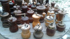 French, German,Italian, and dutch  vintage pepper mills