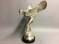 Large silver plated Flying Lady Rolls Royce - Height 38 cm