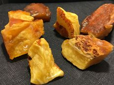 Selected Baltic Amber with beautiful white and yellow colors - 132 g