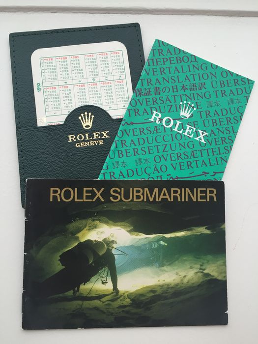 Rolex Submariner, rare set, early 1990s.