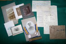 WW1/WO1 British medal pair and ephemera to a Corporal in the ASC (Army Service Corps)
