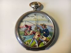 Pocket watch with erotic depiction - Ancre - 1905