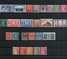 France 1924/1932 - lot of 25 stamps, Yvert no. 214 - 289