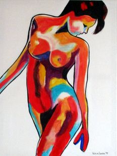 Antoine Liesens - Abstract nude V