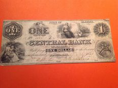 USA - Obsolete Currency - 1 dollar 1861 - State of Alabama