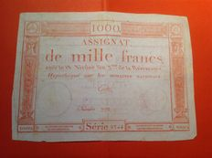 France - Assignat of 1000 Frs from the 18 Nivose an III - Pick A80