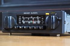 Becker Europa 598 classic car radio with FM - 1981