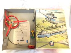 Arnold, Western Germany - Width 27cm - Scarce tin/plastic remote control Flying Platform/Astronaut with crank drive, 1960s
