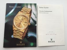 Rolex pocket sized catalogue '97 with price list - rare.
