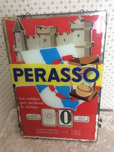 Perasso advertising with calendar signed J. Valiceli. France, mid 20th century.