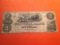 USA - Obsolete Currency - 2 dollars 1861 - State of Alabama