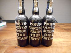 1983 Santos Junior Vintage Port - 3 bottles of 75 cl.