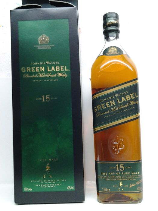Johnnie Walker Green Label 1 Litre - old version
