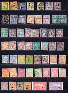 Guadeloupe and Niger 1889/1942 - Large Collection of 150 stamps with aerial post and the 1937 block