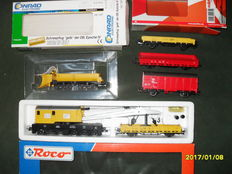 Roco/Märklin/Conrad excluding H0 - help train net technique in emergencies with snow plough and railway crane