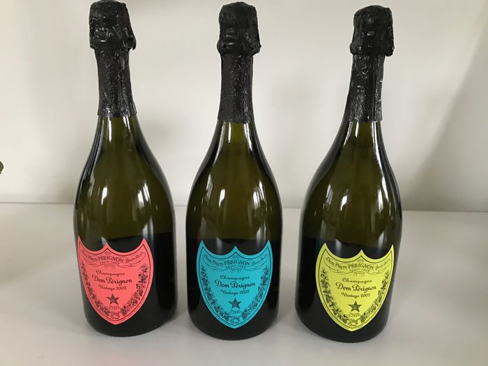2002 dom perignon andy warhol edition 3 bottles 0 75l catawiki. Black Bedroom Furniture Sets. Home Design Ideas