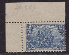 "German Empire – 1905/1916 – picture ""North and South"", 2 M, perforation 26:17 – Michel 95 A"