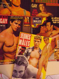 Pornography ; Lot of 5 homoerotic magazines with photos - 1997/2000