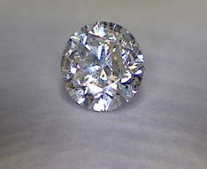 0.51 ct diamant, rond geslepen, H, I1