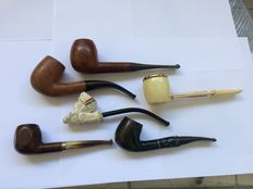 set of old pipes