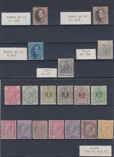 Belgium – selection of early issues on cards