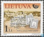 Establishment Lithuanian postal service