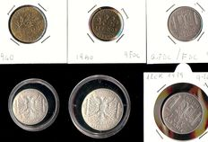 Italian Albania - Lot of 6 coins (including two in silver)