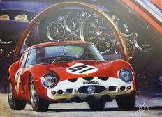 Ferrari 250 GTO - original lithography Hessel Bes - The Red Dream