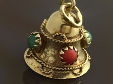 Pendant in the shape of a bell 14 ct