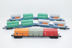 Hobbytrain/Arnold N - H23703/4755 - 3 Containerwagens met containers