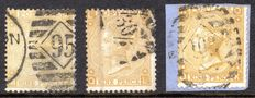 Great Britain 1867 - 9d Shades - Stanley Gibbons 110 and 111