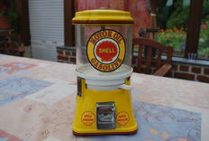 GUMBALL MACHINE * CURTIS - PRODUCTS * LOGO SHELL ORIGINAL YEAR 40-50' (U.S.A.)